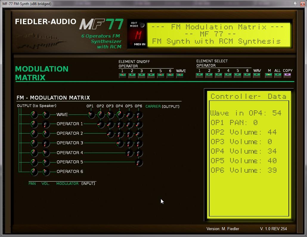 MF77 – FM Synthesizer mit RCM (Wavetable) – Fiedler Audio